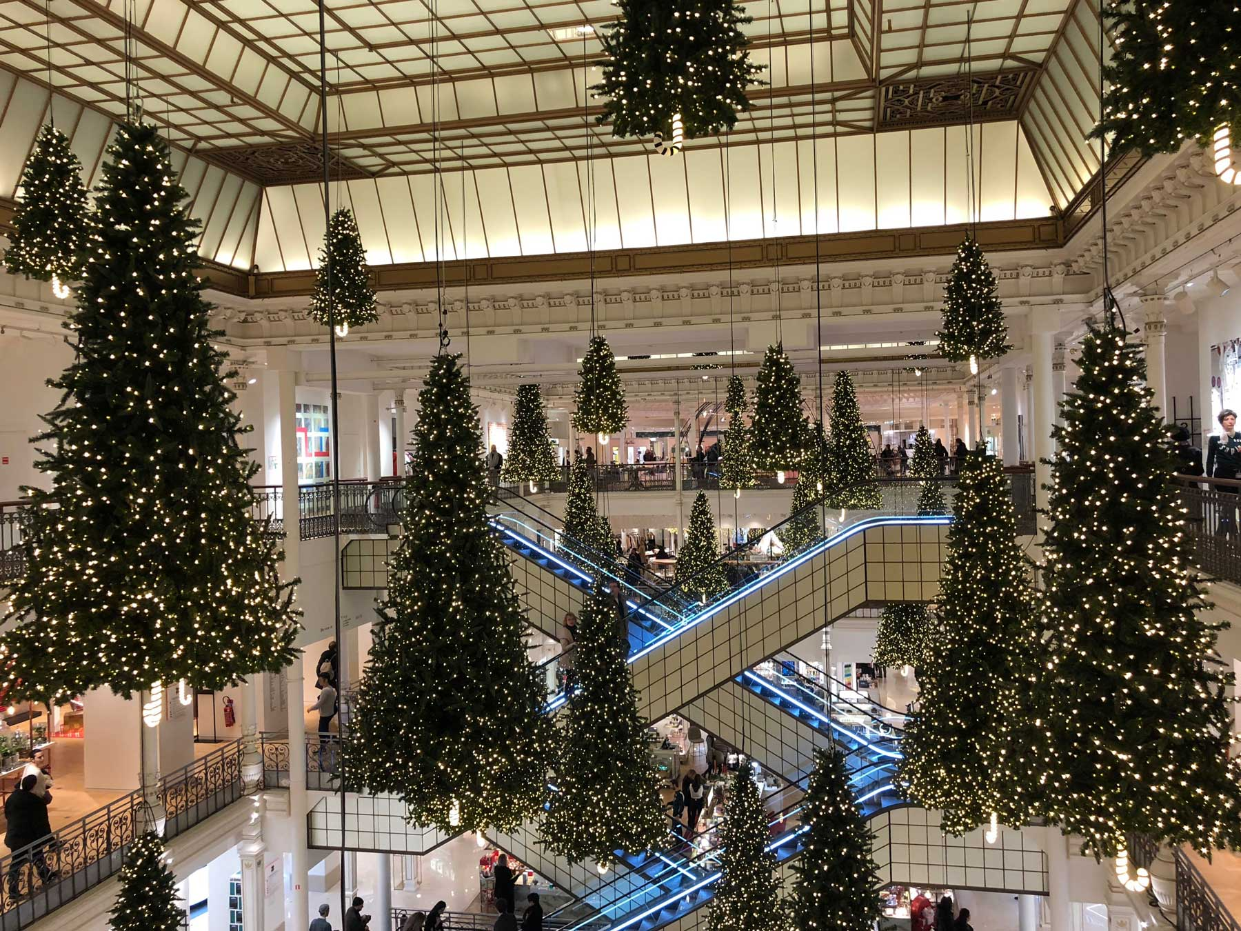 le-bon-marche-christmas-trees-noel-suspended