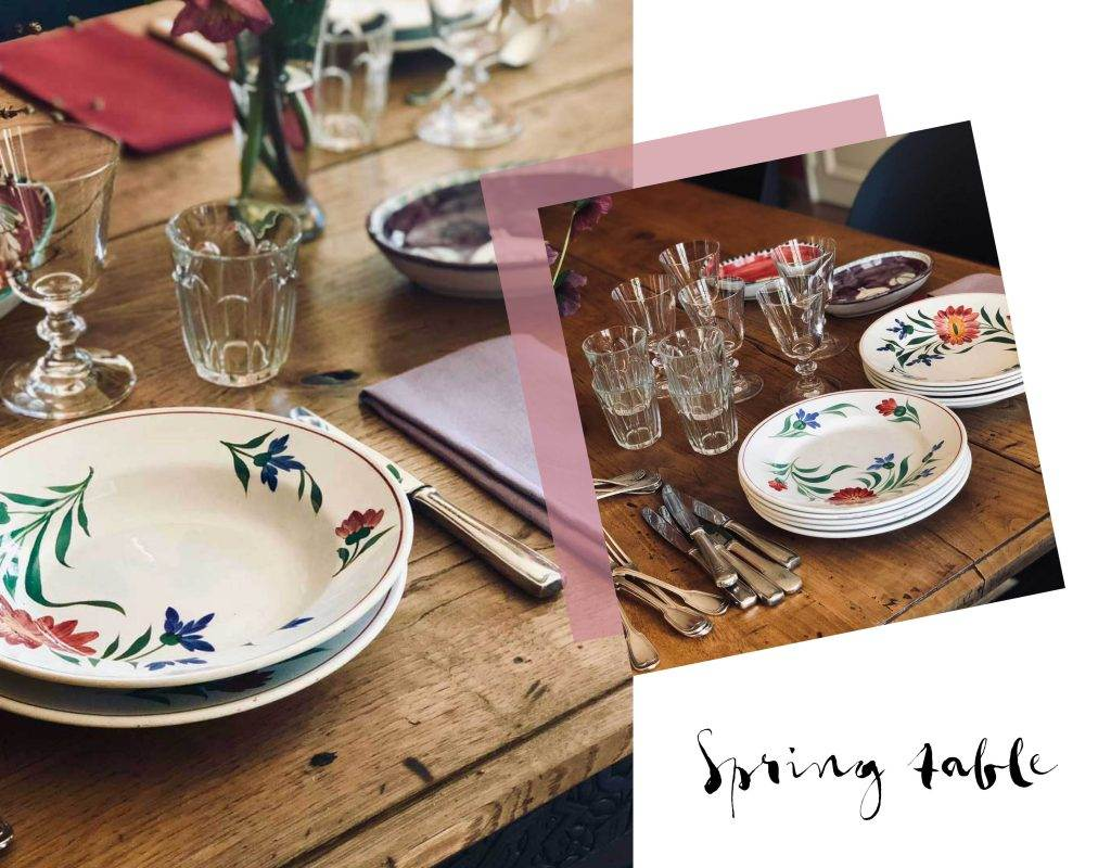 table setting rustic spring flower plates how to