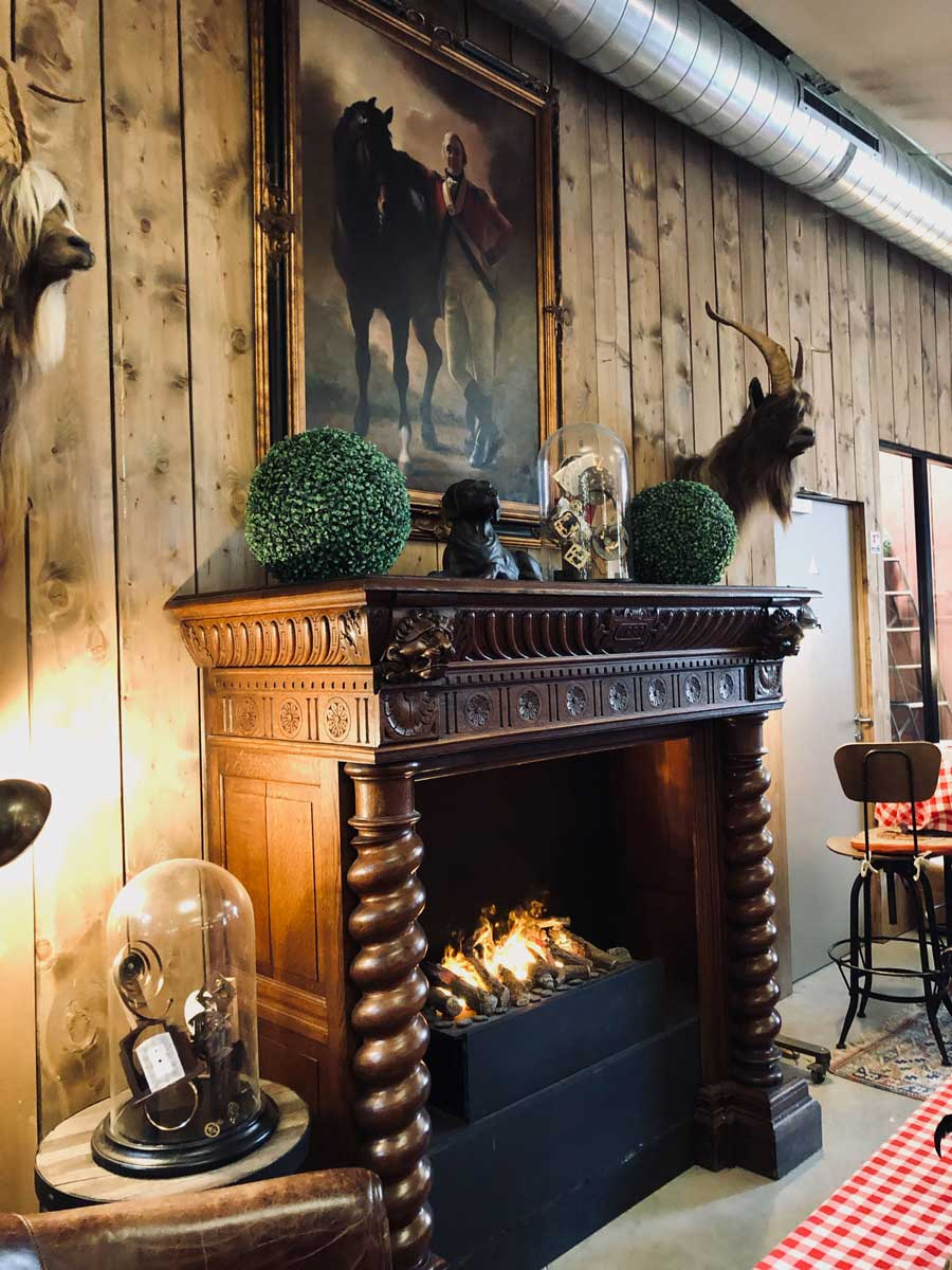 cosy fireplace restaurant