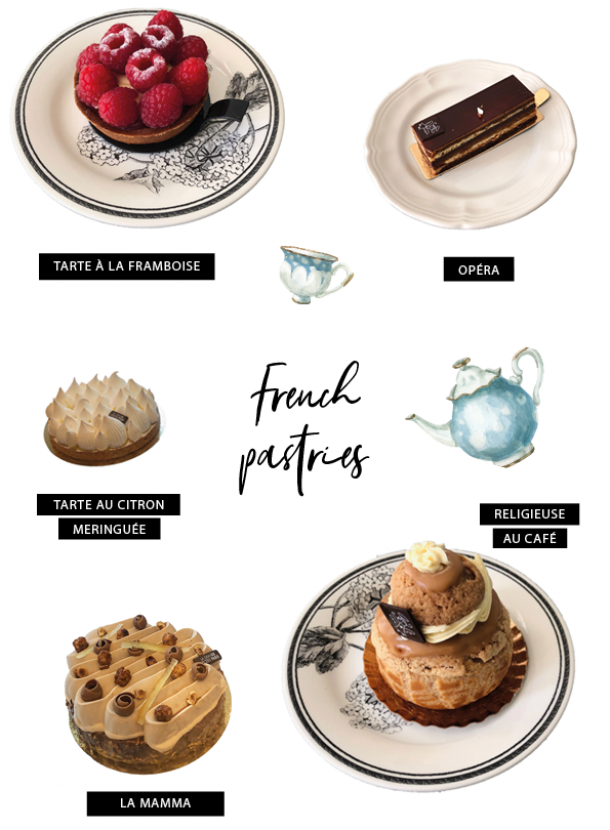 French pastries, patisserie, gourmet